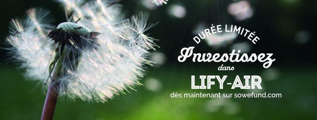 sowefund campagne levée de fon lify air investissez